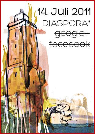 am 14. juli 2011 sind wir auf Diaspora*