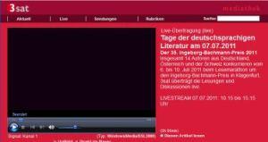 Bachmannpreis 2011 3sat Web-TV