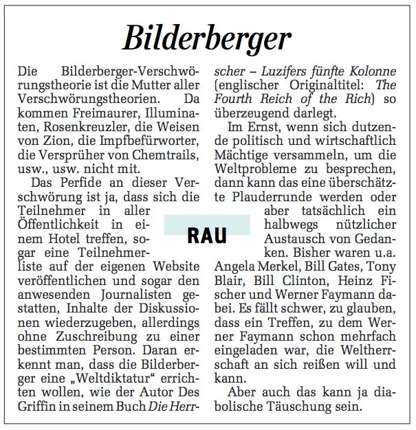 Nur eine Plauderrunde – Bilderberg in Telfs, anno 2015