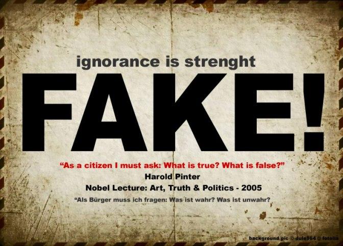 Die Wahrheit ist ein seltsames Spiel, sie kommt und geht von Einem zum Anderen …