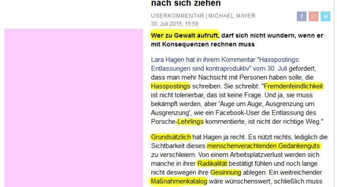 Hasspredigt gegen Hasspostings: Der Einpeitscher im Mainstream