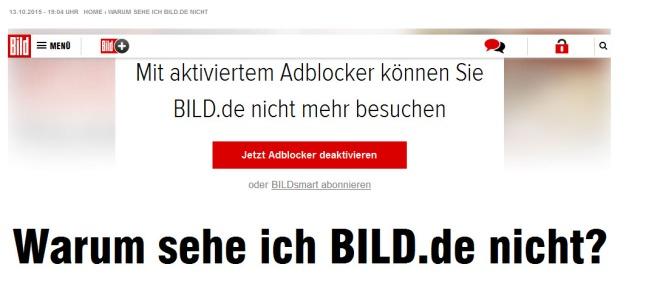 Die beste Bild.de, die es je gab - nur mit AdBlocker!