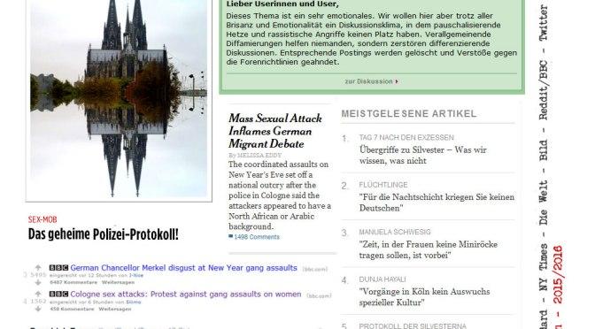 Silvesternacht in Köln und der Blind Spot der Geschichte