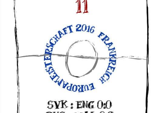 EM 2016: Spieltag 11 – Entscheidung Gruppe B