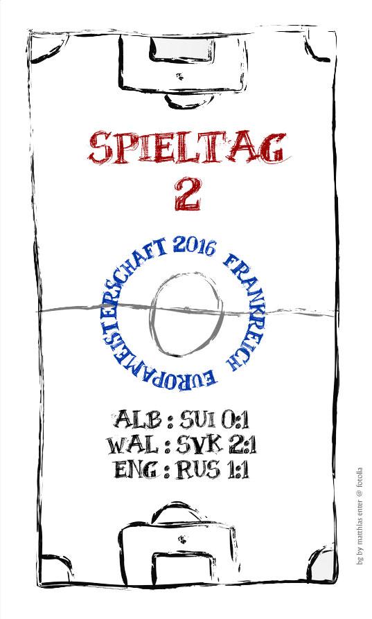 EM 2016: Spieltag 2