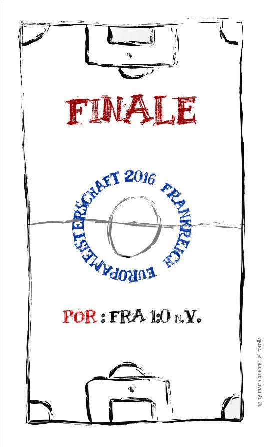 EM 2016: Finale – POR : FRA