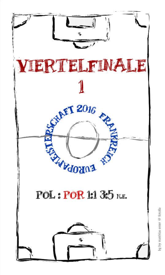 EM 2016: Viertelfinale 1 – POL : POR