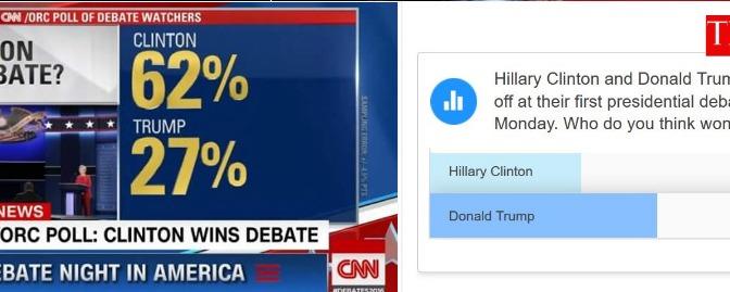 Trump vs. Clinton – Die erste Debatte