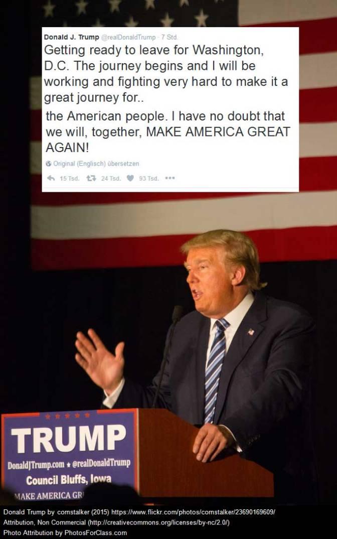 Donald J. Trump und die Revolution von 2017