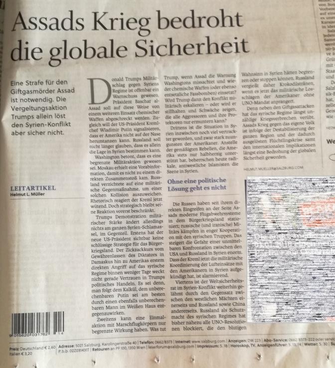 Wenn die journalistische Welt aus den Fugen gerät #Syrien
