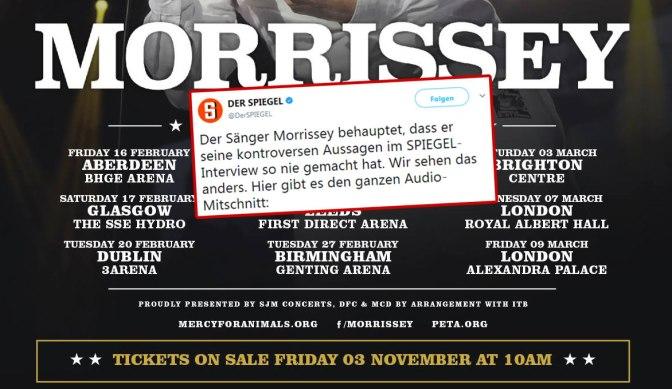 Morrissey, Der Spiegel und die subtile Manipulation eines Interviews