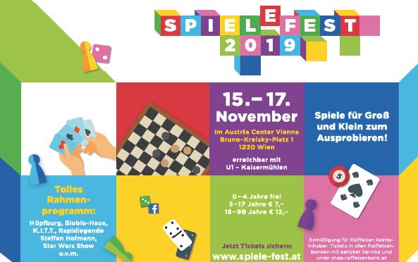Spielefest 2019 im Wiener Austria Center 15.11-17.11